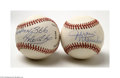Autographs:Baseballs, Juan Marichal and Rico Carty Single Signed Baseballs....