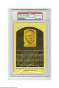 Autographs:Post Cards, Hank Greenberg Signed Hall of Fame Plaque Postcard....