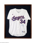 Autographs:Jerseys, Nolan Ryan Signed Texas Rangers Jersey....