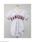 Baseball Collectibles:Uniforms, 1996 Texas Rangers Home Jersey....