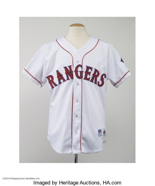 sports shoes a94d5 99fae 1996 Texas Rangers Home Jersey.... Baseball Collectibles ...
