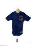 Baseball Collectibles:Uniforms, 2003 Lenny Harris Chicago Cubs Game Worn Jersey....