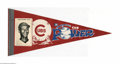 Baseball Collectibles:Others, 1950's Ernie Banks Chicago Cubs Picture Pennant....