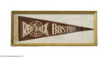 Baseball Collectibles:Others, Vintage Boston Red Sox Pennant....