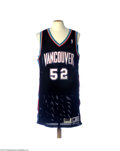 Basketball Collectibles:Uniforms, 1997-98 Eric Mobley Vancouver Grizzlies Game Worn Jersey....
