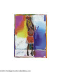 Basketball Collectibles:Others, Michael Jordan Signed Peter Max Lithograph...