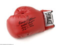 Boxing Collectibles:Autographs, Floyd Patterson Signed Boxing Glove....