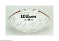Football Collectibles:Balls, 1985 NFC East Division Champions Washington Redskins Team Signed Football....