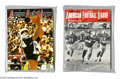 Football Collectibles:Publications, 1960's American Football League Publications Collection (2)....