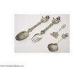 Silver Flatware, Continental:Flatware, A GROUP OF FOUR CONTINENTAL SILVER NAVAL MOTIF SERVERS (... (4Items)