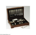Silver & Vertu:Flatware, Wallace: A NINETY-FOUR-PIECE AMERICAN SILVER GRAND BAROQUE PATTERN FLATWARE GROUP (Mark of Wallace, Wallingford, Connecticut) ... (Total: 94 Item)