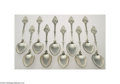 Silver Flatware, American:Other , Shulz & Fischer: A GROUP OF TWELVE AMERICAN SILVER MEDALLION... (10 Items)