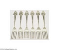 Silver Flatware, American:Gorham, Gorham: A GROUP OF SIX AMERICAN SILVER MEDALLION PATTERN ... (6Items)