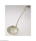Silver Flatware, American:George Sharp, George Sharp: AN AMERICAN SILVER PUNCH LADLE WITH ORIGINAL ...