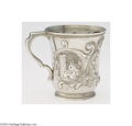 Silver & Vertu:Hollowware, William Gale: AN AMERICAN COIN SILVER ARCHITECTURAL REPOUSSE CUP (Mark of William Gale & Son, New York) . Mark of William Ga...