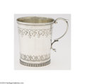 Silver Holloware, American:Cups, Tiffany & Co.: AN AMERICAN SILVER HONEYSUCKLE CUP (Mark of ...