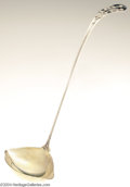 Silver Flatware, American:Tiffany, Tiffany & Co.: AN AMERICAN SILVER DAISY PATTERN PUNCH LADLE(...