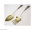 Silver Flatware, American:Whiting, Whiting: AN AMERICAN SILVER MIXED METAL JAPANESE STYLE SALAD ... (2Items)