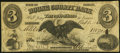 Obsoletes By State:Indiana, Lebanon, IN- Boone County Bank $3 Oct. 1, 1860 Fine.. ...