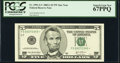 Fr. 1991-G* $5 2003A Federal Reserve Note. PCGS Superb Gem New 67PPQ