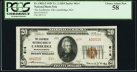 Cambridge, MA - $20 1929 Ty. 2 The Lechmere National Bank Ch. # 614 PCGS Choice About New 58