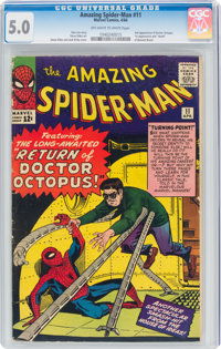 The Amazing Spider-Man #11 (Marvel, 1964) CGC VG/FN 5.0 Off-white to white pages