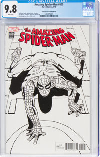The Amazing Spider-Man #800 Remastered Sketch Edition (Marvel, 2018) CGC NM/MT 9.8 White pages
