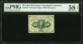 Fractional Currency:First Issue, Fr. 1240 10¢ First Issue PMG Choice About Unc 58 EPQ.. ...