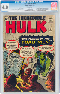 The Incredible Hulk #2 (Marvel, 1962) CGC VG 4.0 White pages
