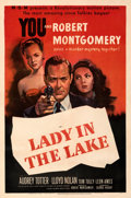 """Movie Posters:Film Noir, Lady in the Lake (MGM, 1947). Fine+ on Linen. One Sheet (27"""" X 41"""").. ..."""