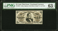 Fr. 1292 25¢ Third Issue PMG Choice Uncirculated 63 EPQ