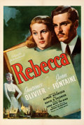 """Movie Posters:Hitchcock, Rebecca (United Artists, 1940). Very Fine- on Linen. One Sheet (27.5"""" X 41"""").. ..."""