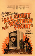 "Movie Posters:Academy Award Winners, All Quiet on the Western Front (Universal, 1930). Fine. Window Card (14"" X 22"").. ..."