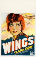 """Movie Posters:Academy Award Winners, Wings (Paramount, 1927). Fine+ on Cardstock. Window Card (14"""" X 22"""") Style A.. ..."""
