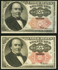 Fractional Currency:Fifth Issue, Fr. 1308 25¢ Fifth Issue Choice New. Fr. 1309 25¢ Fifth Issue Choice New.. ... (Total: 2 notes)
