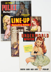Men's Adventure and Detective Magazines Group of 30 (Various Publishers, 1960s-70s) Condition: Average VG+.... (Total: 3...