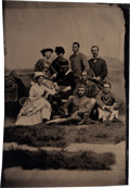 Photography:Tintypes, Extraordinary Tintype Image of a Youthful Theodore Roosevelt with His First Wife Alice....