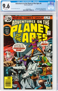 Adventures on the Planet of the Apes #6 (Marvel, 1976) CGC NM+ 9.6 White pages