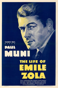 """The Life of Emile Zola (Warner Bros., 1937). Very Fine- on Linen. One Sheet (27"""" X 41.5"""")"""