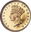 Gold Dollars, 1880 G$1 MS66 Prooflike NGC....