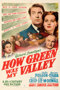 "Movie Posters:Academy Award Winners, How Green Was My Valley (20th Century Fox, 1941). Fine/Very Fine on Linen. One Sheet (27.5"" X 41"") Style B.. ..."