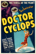 "Movie Posters:Horror, Doctor Cyclops (Paramount, 1940). Fine on Linen. One Sheet (27"" X 41"").. ..."
