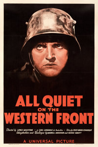 """All Quiet on the Western Front (Universal, R-1938). Fine/Very Fine on Linen. One Sheet (27.5"""" X 41"""")"""