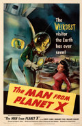 Movie Posters:Science Fiction, The Man from Planet X (United Artists, 1951). Fine+ on Lin...