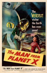 """The Man from Planet X (United Artists, 1951). Fine+ on Linen. One Sheet (27"""" X 41"""")"""