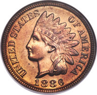 1886 1C Type Two MS66 Red NGC....(PCGS# 92156)