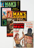 Magazines:Miscellaneous, Men's Adventure Magazines Group of 42 (Various Publishers, 1960s-70s) Condition: Average VG+.... (Total: 42 Items)