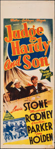 "Movie Posters:Comedy, Judge Hardy and Son (MGM, 1939). Folded, Fine+. Australian Pre-War Daybill (14.75"" X 40""). Comedy.. ..."