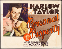 """Personal Property (MGM, 1937). Fine+. Title Lobby Card (11"""" X 14""""). Romance"""