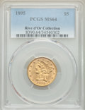 1895 $5 MS64 PCGS. Ex: Rive d'Or Collection. PCGS Population: (230/31). NGC Census: (566/90). CDN: $575 Whsle. Bid for N...